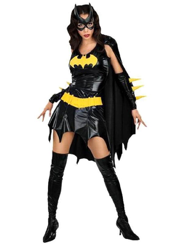 Da Donna con Catwoman Batman Supereroe Costume Nero Catsuit Abbigliamento