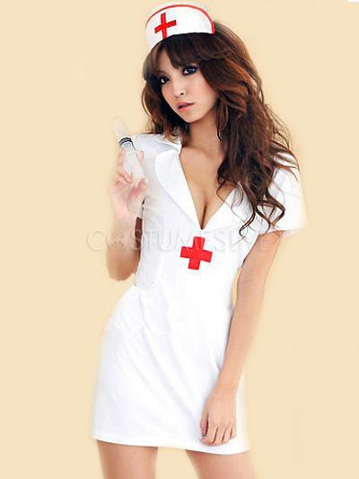 Da Cappello Sexy Bianco By Costume Con Infermiera kulPTOXZiw