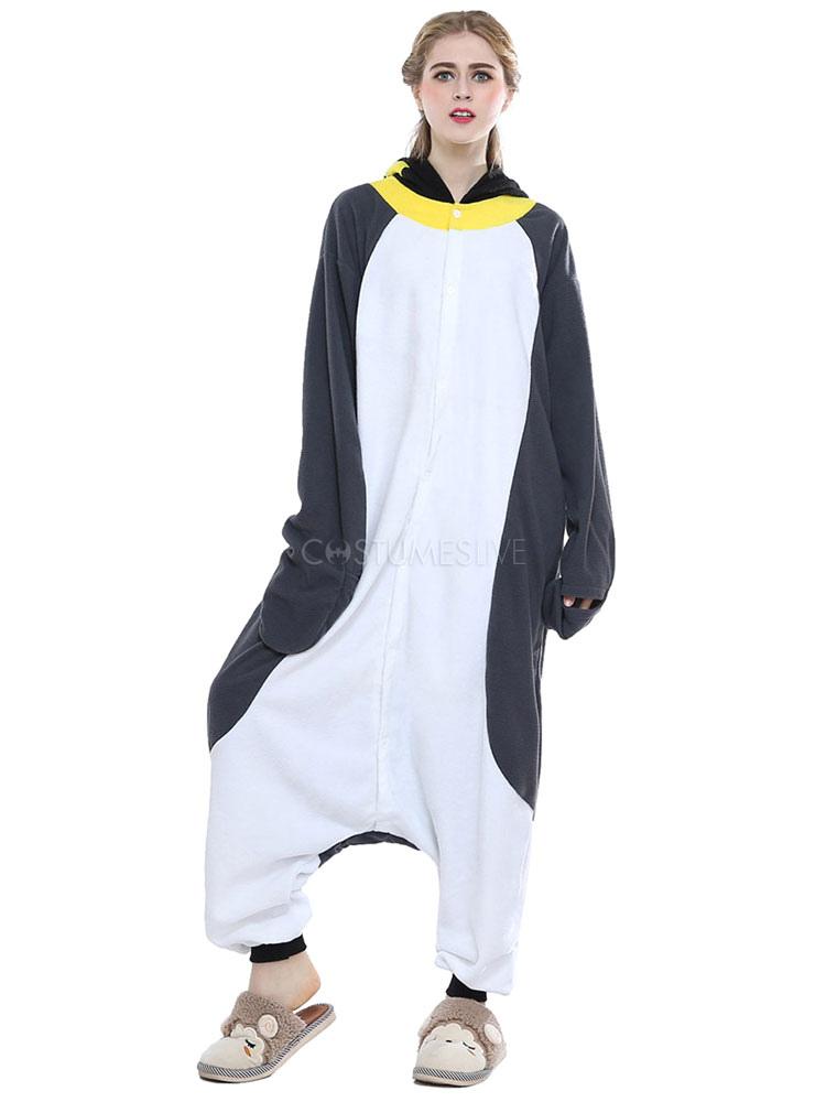 75f1bd3f52 ... Kigurumi Pajamas Penguin Onesie For Adult Gray Unisex Synthetic Mascot Animal  Costume ...