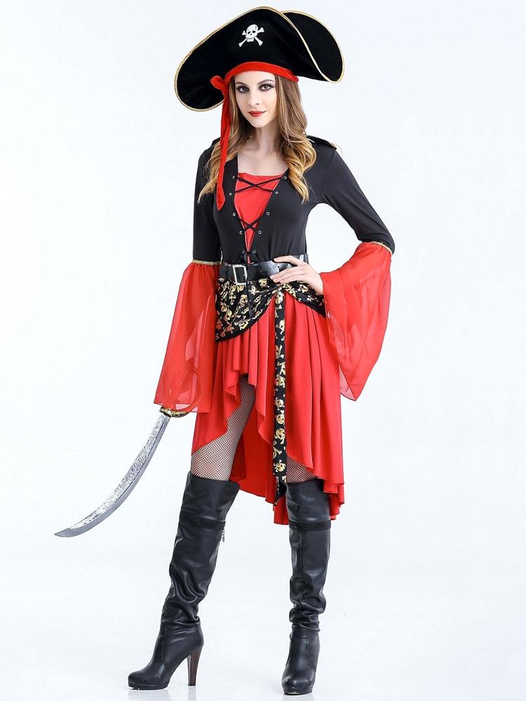 bien barato zapatos casuales tiendas populares Disfraz Carnaval Vestido rojo de Halloween disfraces pirata mujer ...