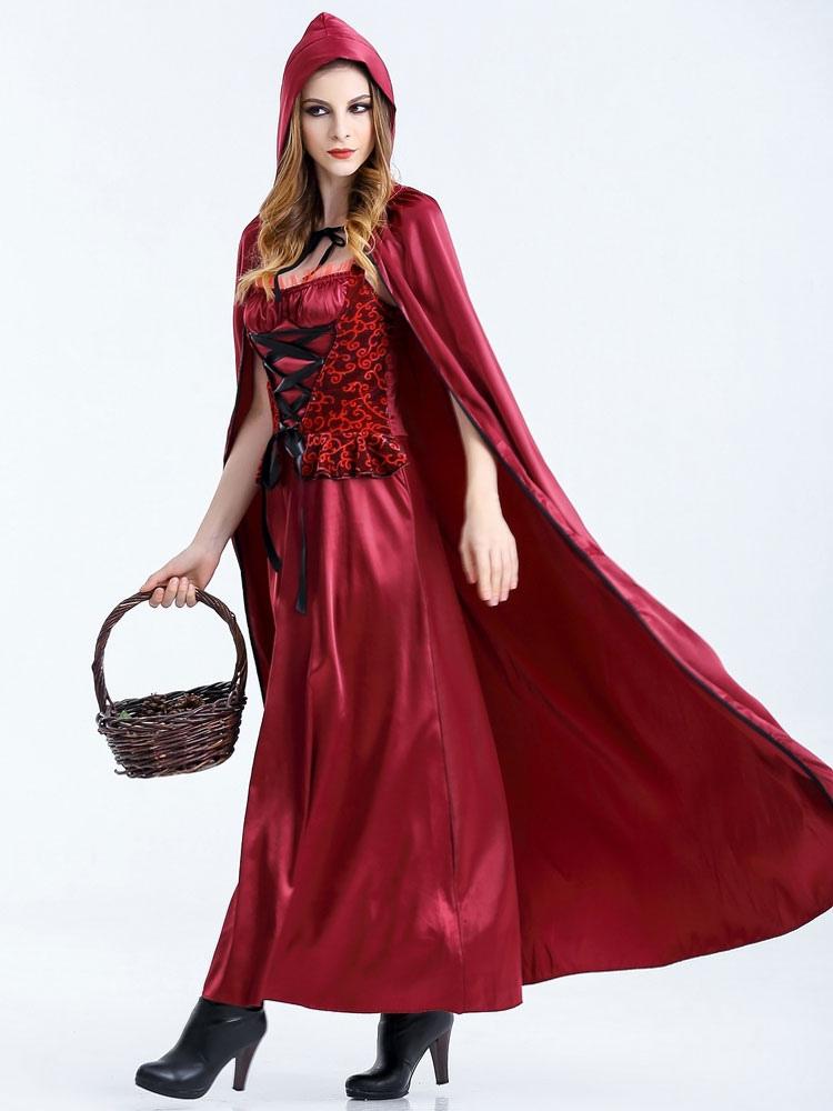 Caperucita Roja Halloween.Halloween Disfraces De Caperucita Roja Traje Cosplay Mujer Con Guantes