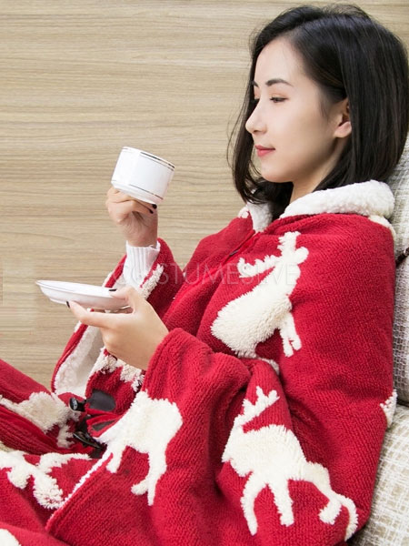 55d06f17a6 Snuggie mono pijama Navidad manga manta ropa de dormir para adulto ...