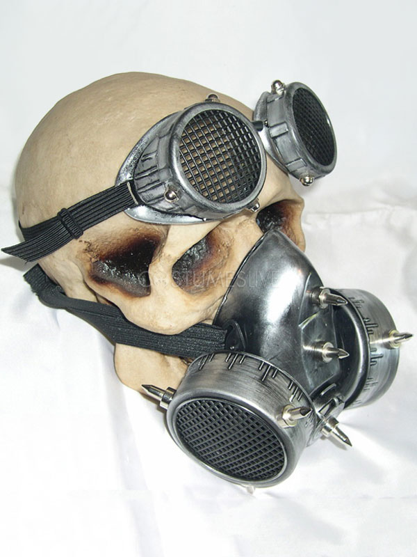 Steampunk Halloween Costume Vintage Goggles Glasses With Gas Mask Cos Prop