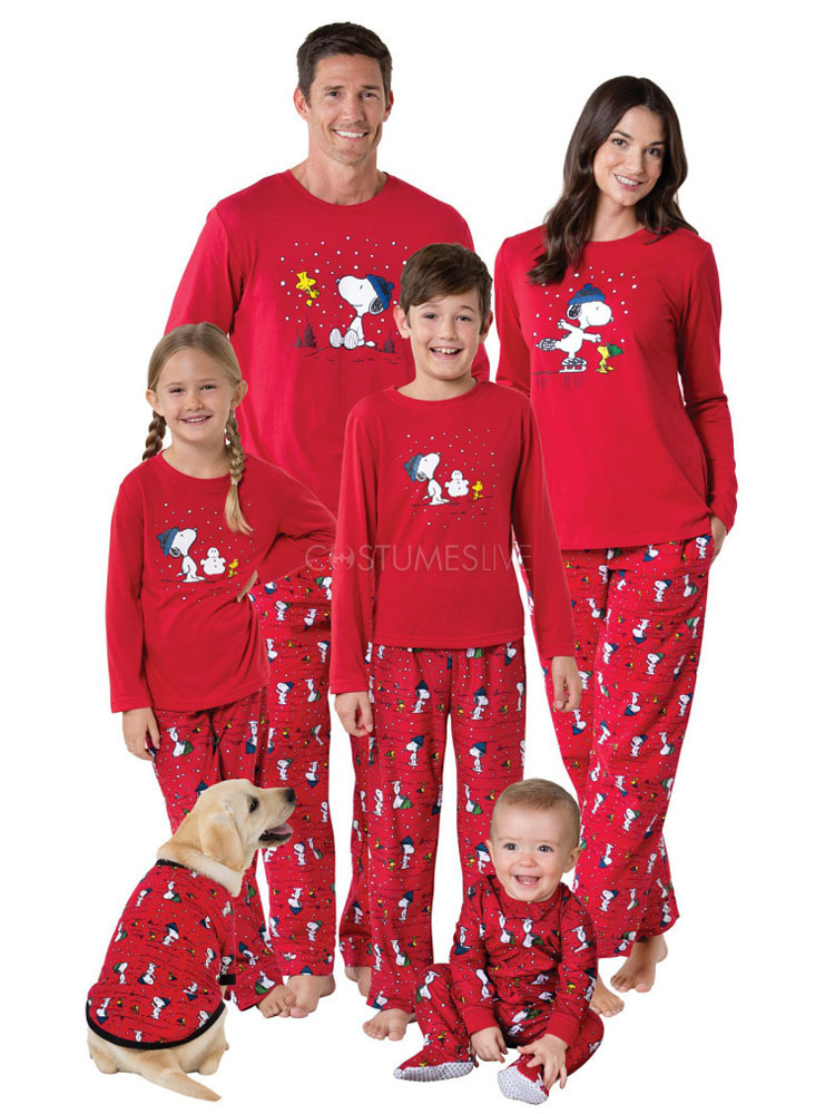Family Christmas Pajamas.Matching Family Christmas Pajamas Kids Red Printed Top And Pants 2 Piece Set For Children
