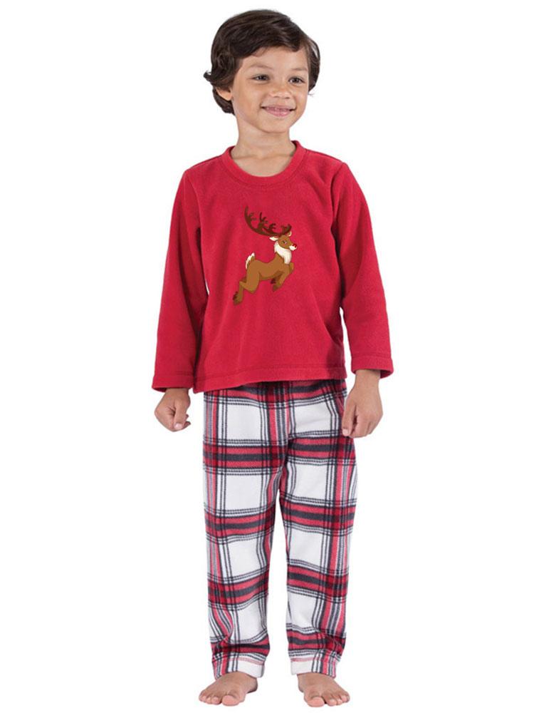 Disfraz Carnaval Un Juego De Familia Pijamas Navidad Ninos Cuadros Rojos Reno Top Y Pantalones 2 Piezas Juego Para Chicos Carnaval Halloween Costumeslive Com