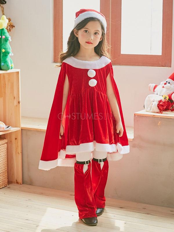 Disfraz De Navidad Traje De Ninos Vestidos Pantalones Cortos Sombrero Conjunto De 3 Piezas Para Ninas Halloween Costumeslive Com