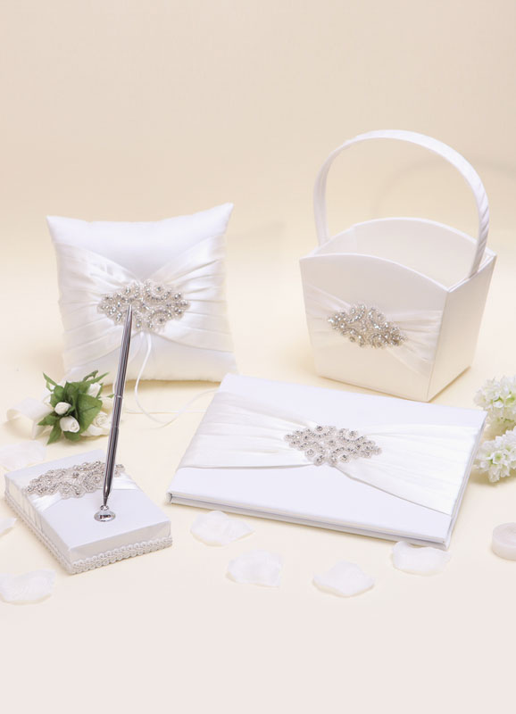 Wedding Collection Set with Rhinestone (Set of 4) - from $51.29