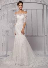 Lace Wedding Dress Trumpet Style