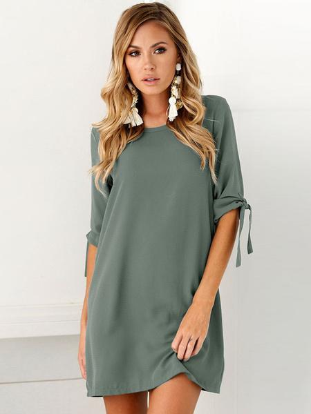 8cf8e16a26d Women Summer Dress Half Sleeve Casual Shift Dresses-Women s Clothing ...