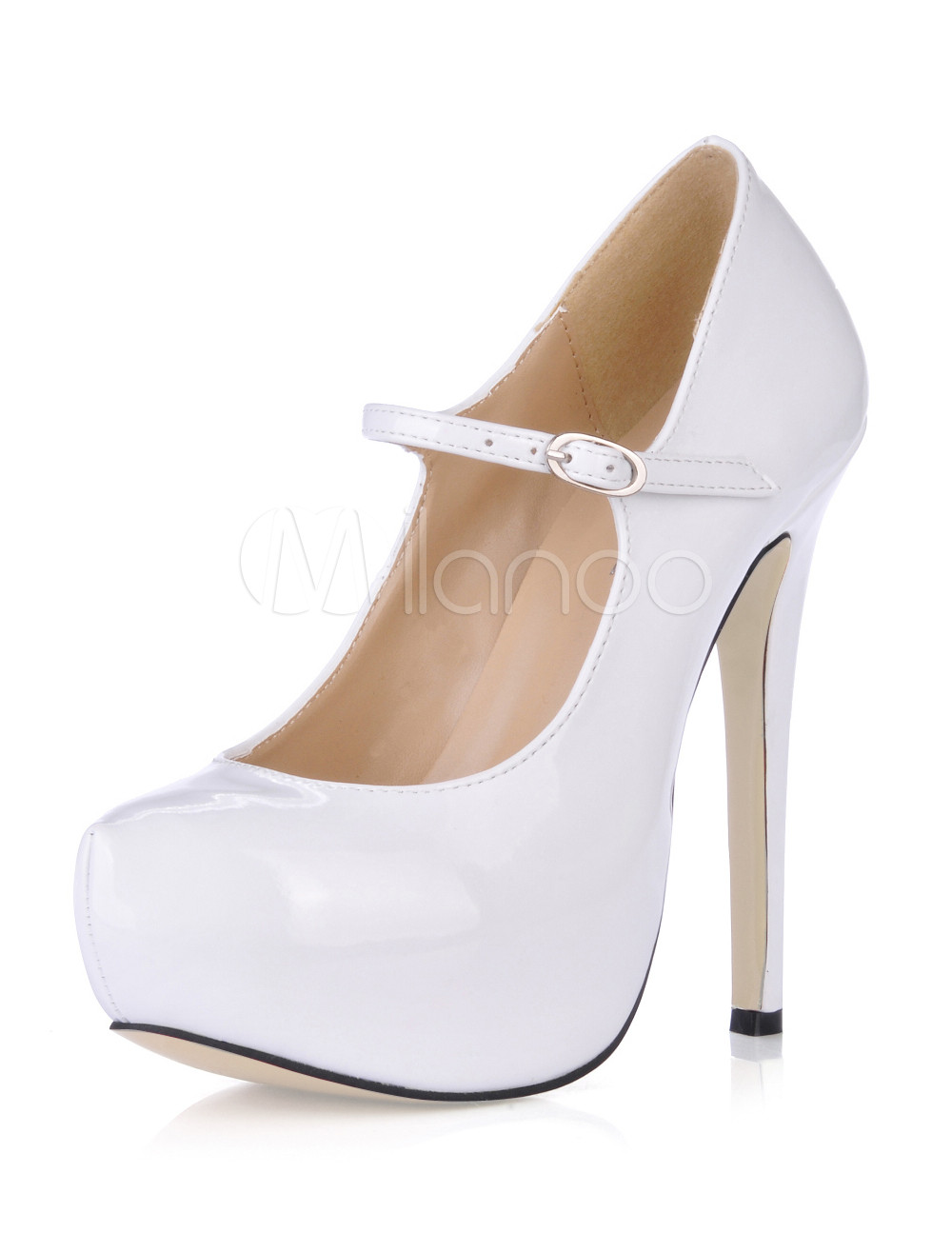 c13218a6d3b Women High Heels Platform Round Toe Mary Jane Shoes Fuchsia Stiletto ...
