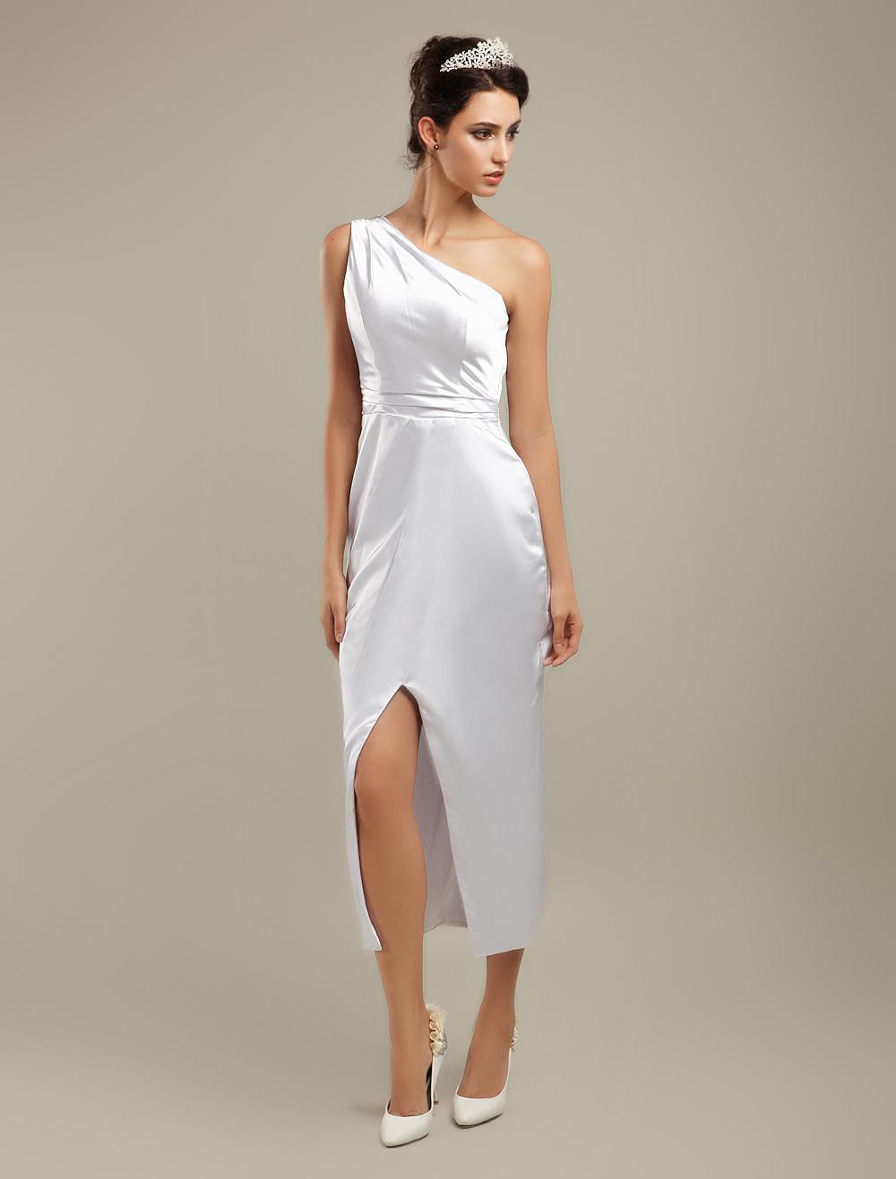 Ivory Elastic Woven Satin Dresses