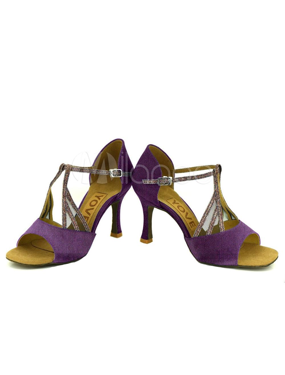 Zapatos de bailes latinos de satén color liso a medidas L02MMRYA0c