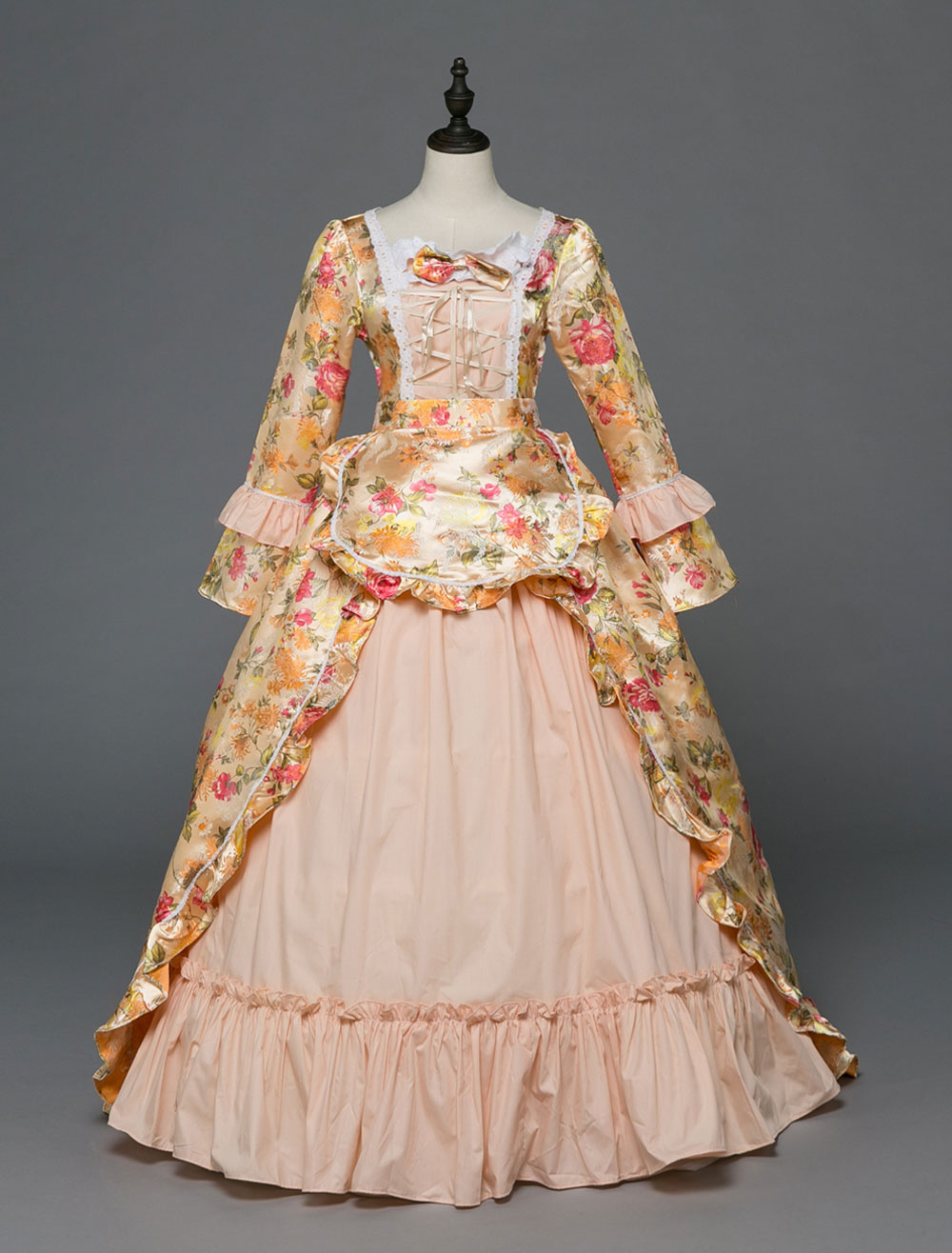 Retro Costume Women Rococo Dress Halloween Victorian Masquerade Ball ...