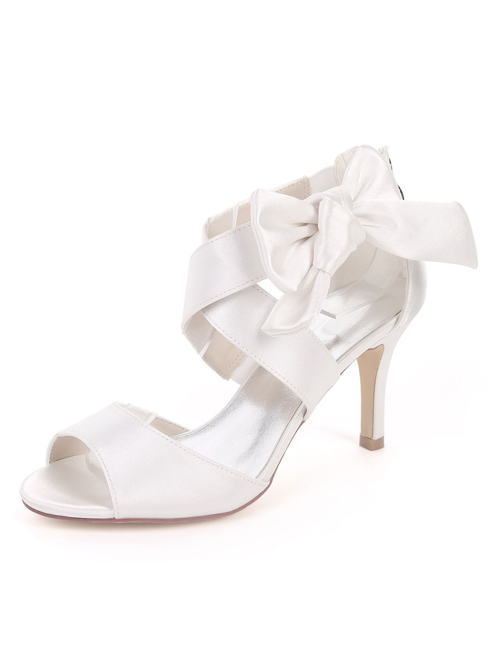 blue open toe wedding shoes