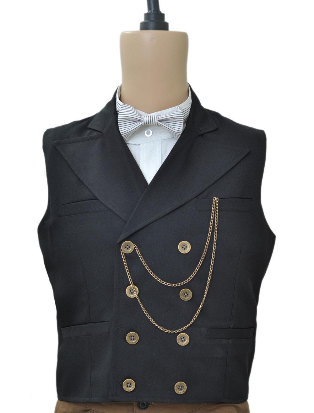 Black Steampunk Waistcoat
