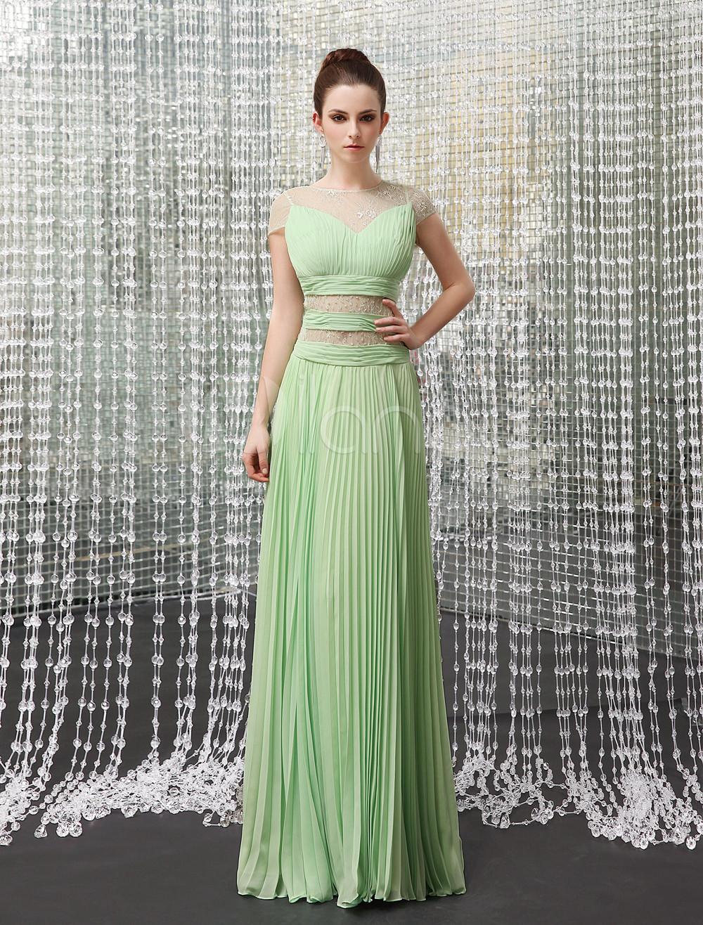 Vestidos para fiesta color verde manzana