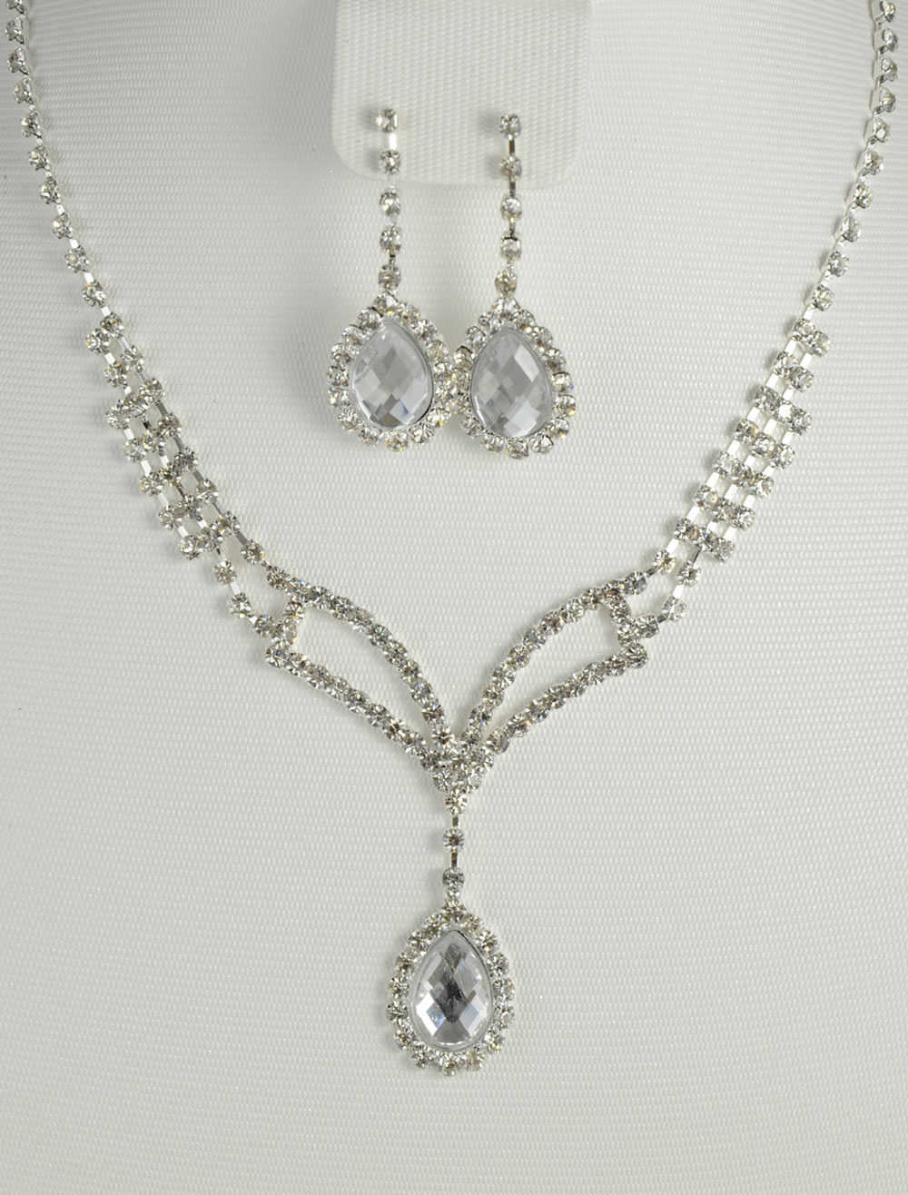 32aa93564e Conjunto de jóias Bridal chique prata strass Metal - Milanoo.com