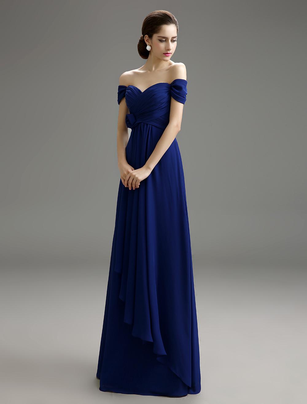 Schatz Chiffon abnehmbarer Brautjungfer Kleid mit Off-The-Shoulder ...