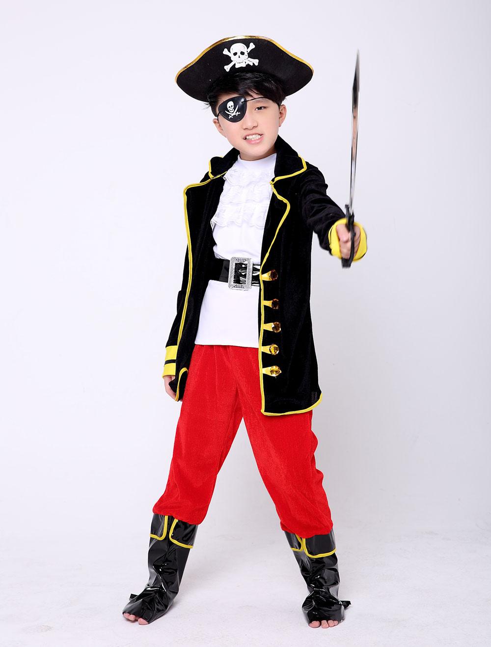 b943130c6 Disfraz de pirata para niños Disfraz de disfraz para niños negros de  Halloween