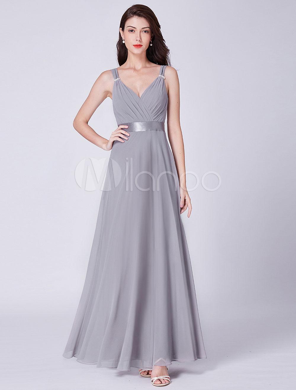 Vestidos largos en color gris