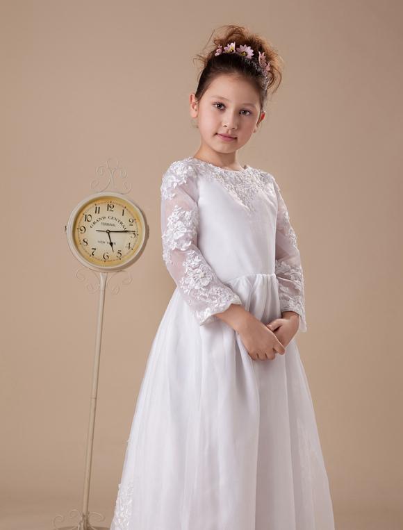 white floor length first communion dresses. Black Bedroom Furniture Sets. Home Design Ideas