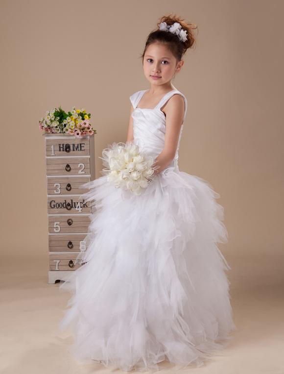 Robe blanche petite fille ceremonie