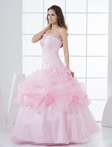Robe de bal de finissant rose