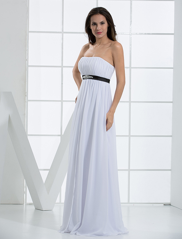 Robe de soiree bustier blanche