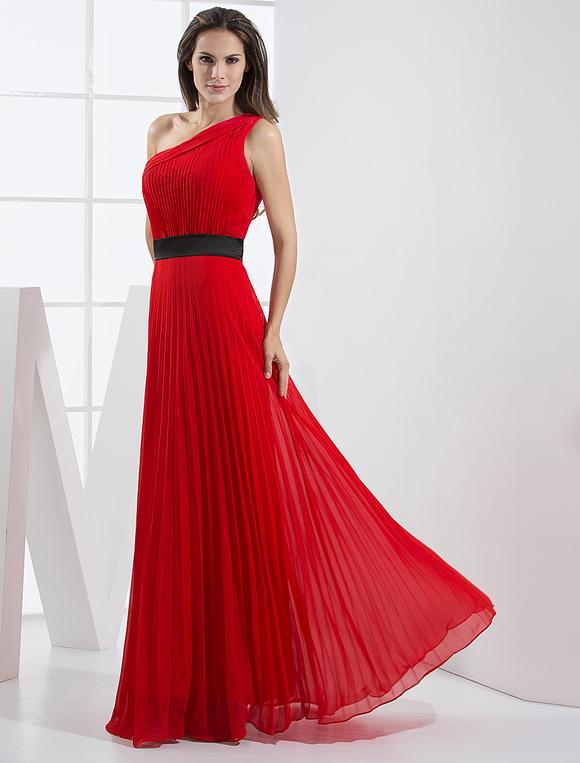 Vestido rojo un hombro