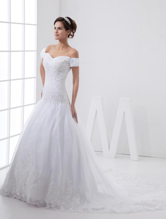 vestidos de novia hombros caidos