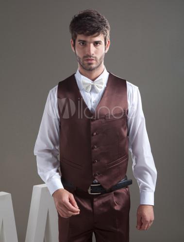 e8709662c3ed5 ... 新郎スーツ,ブラウン タキシード セット オーダーメイド可能 結婚式スーツ パーティー ゥェディング - ...