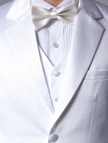 4d3c824e3bd48 ... 新郎スーツ,タキシード ホワイト オーダーメイド可能 セット 結婚式スーツ ゥェディング パーティー -No. 12