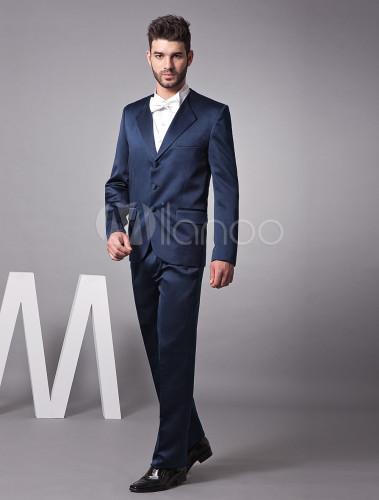 22818df618ae4 ... 新郎スーツ,タキシード ダークネイビー セット オーダーメイド可能 結婚式スーツ パーティー ゥェディング ...