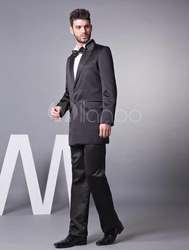 11830c889429e ... 新郎スーツ,タキシード ブラック オーダーメイド可能 結婚式スーツ パーティー 高品質 ゥェディング ...
