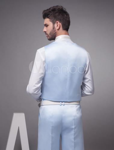 f9f9e75a75768 ... 新郎スーツ,ブルー タキシード オーダーメイド可能 セット 結婚式スーツ パーティー ゥェディング - ...