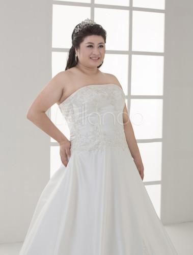 robe de mari e blanche de dentelle cr me et de taille plus