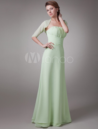Sage 2 Piece Pleated Chiffon Mother Of The Bride Dress