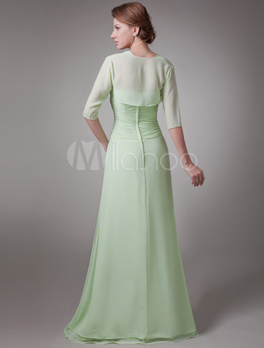 Sage 2 Piece Pleated Chiffon Mother Of The Bride Dress No 3