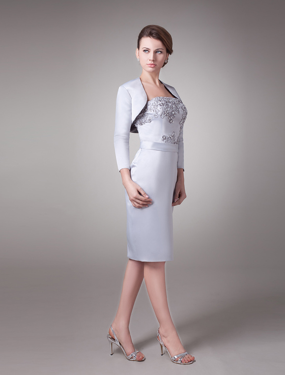 Mother Of The Bride Dress Two Piece Wedding Guest Dresses Beaded ...