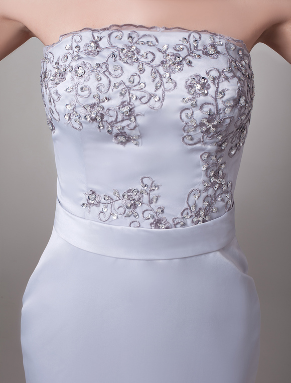0dfb957e8aa ... Mother Of The Bride Dress Two Piece Wedding Guest Dresses Beaded Silver  Satin Short Wedding Party ...