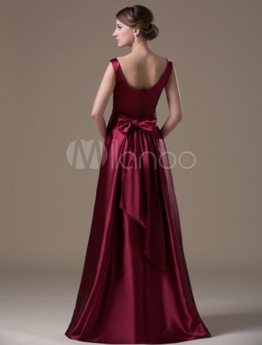 18793761024 ... Burgundy Hot Spandex Satin Floor-length Maternity Bridesmaid Dress-No.4  ...