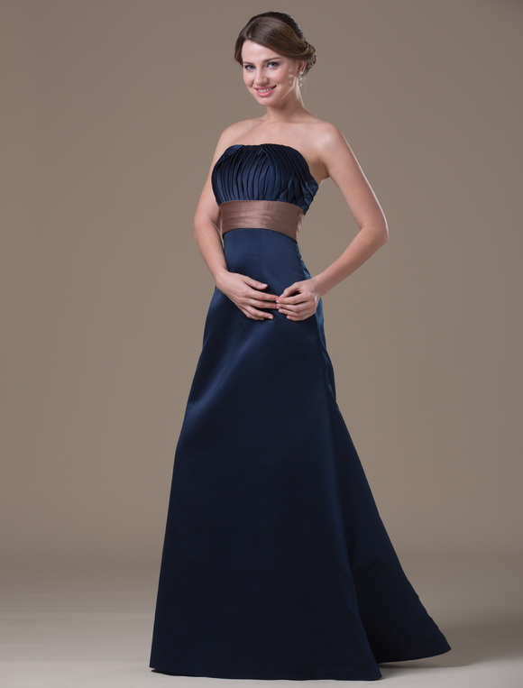 Vestidos formales color azul marino