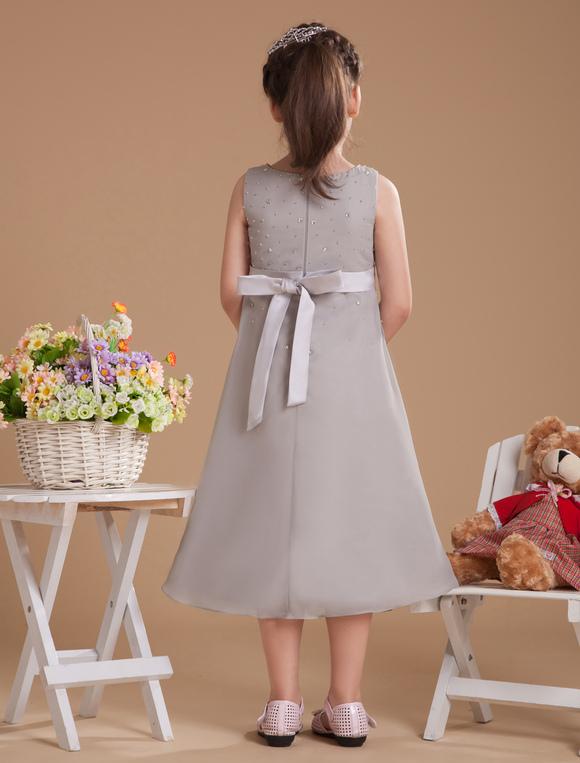 Silver beading satin flower girl dress milanoo silver beading satin flower girl dress no3 mightylinksfo