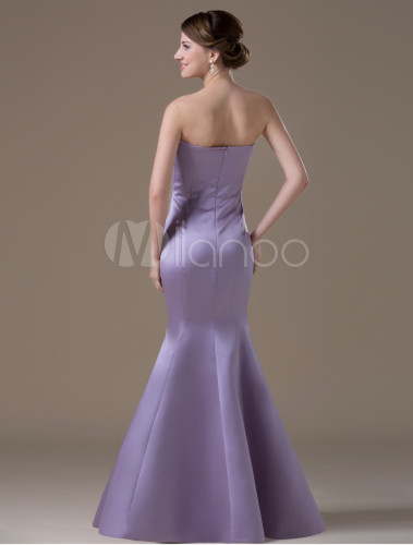 b1c9ec8bba67 Fashion Light Purple Satin A-line Mermaid Evening Dress - Milanoo.com