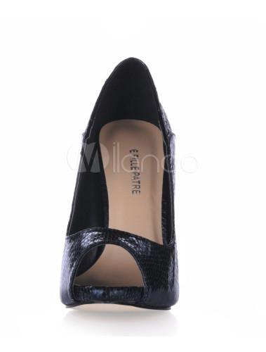 Zapatos Peep toe de tela estampada con lentejuelas gaGzKcd