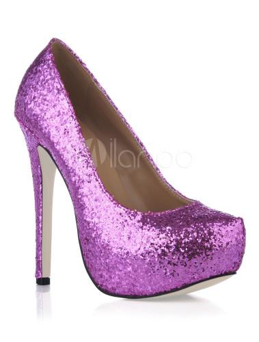 0cd3b38386 Platform Stiletto Heel Sequin PU Womens Shoes - Milanoo.com