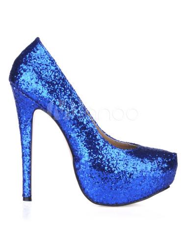 94719a3fa6 ... Platform Stiletto Heel Sequin PU Womens Shoes-No.10 ...