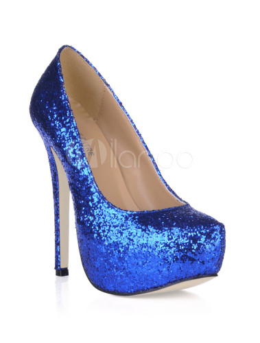 b293414759 ... Platform Stiletto Heel Sequin PU Womens Shoes-No.11 ...