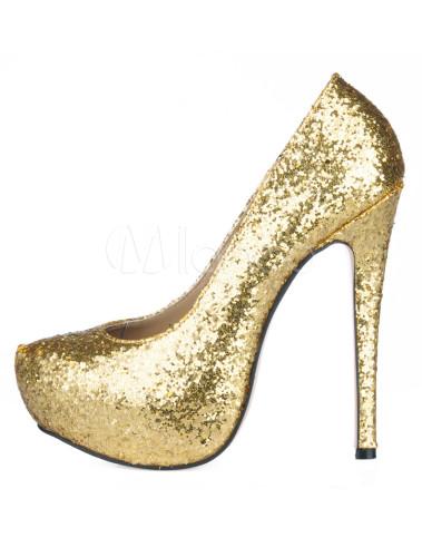 224e9da06b ... Platform Stiletto Heel Sequin PU Womens Shoes-No.13 ...