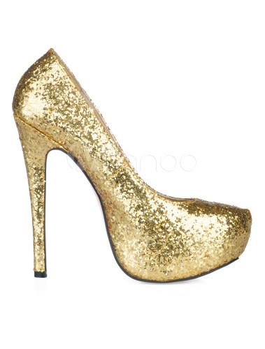 5d5bcf36d1 ... Platform Stiletto Heel Sequin PU Womens Shoes-No.16 ...